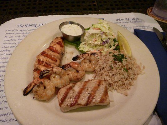 Perfectly grilled shrimps