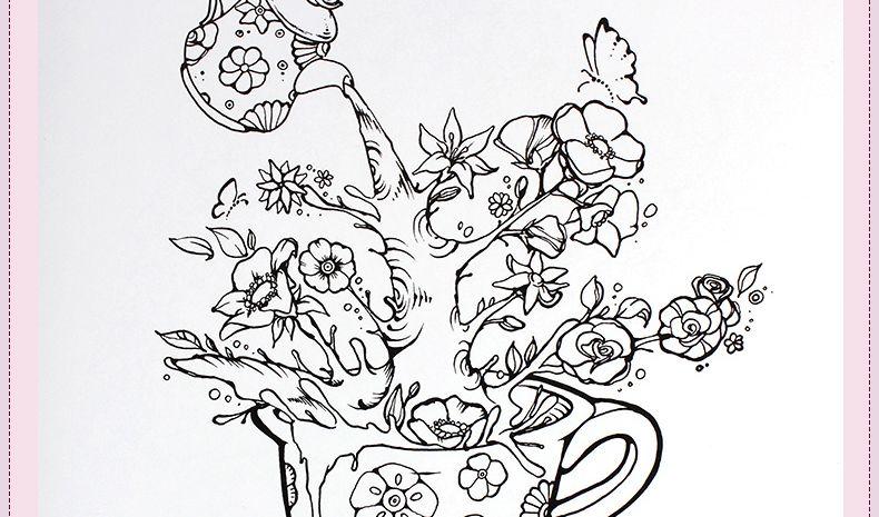 2015 Anti Stress Inky Treasure Love Secret Coloring Books For