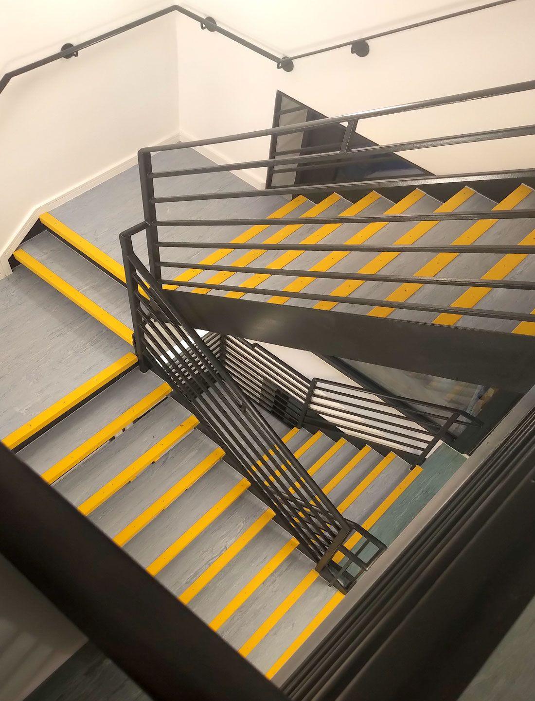 """High contrast AntiSlip Stair Nosings were installed on"