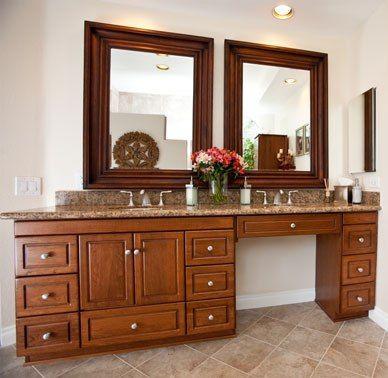 sink vanity with makeup table
