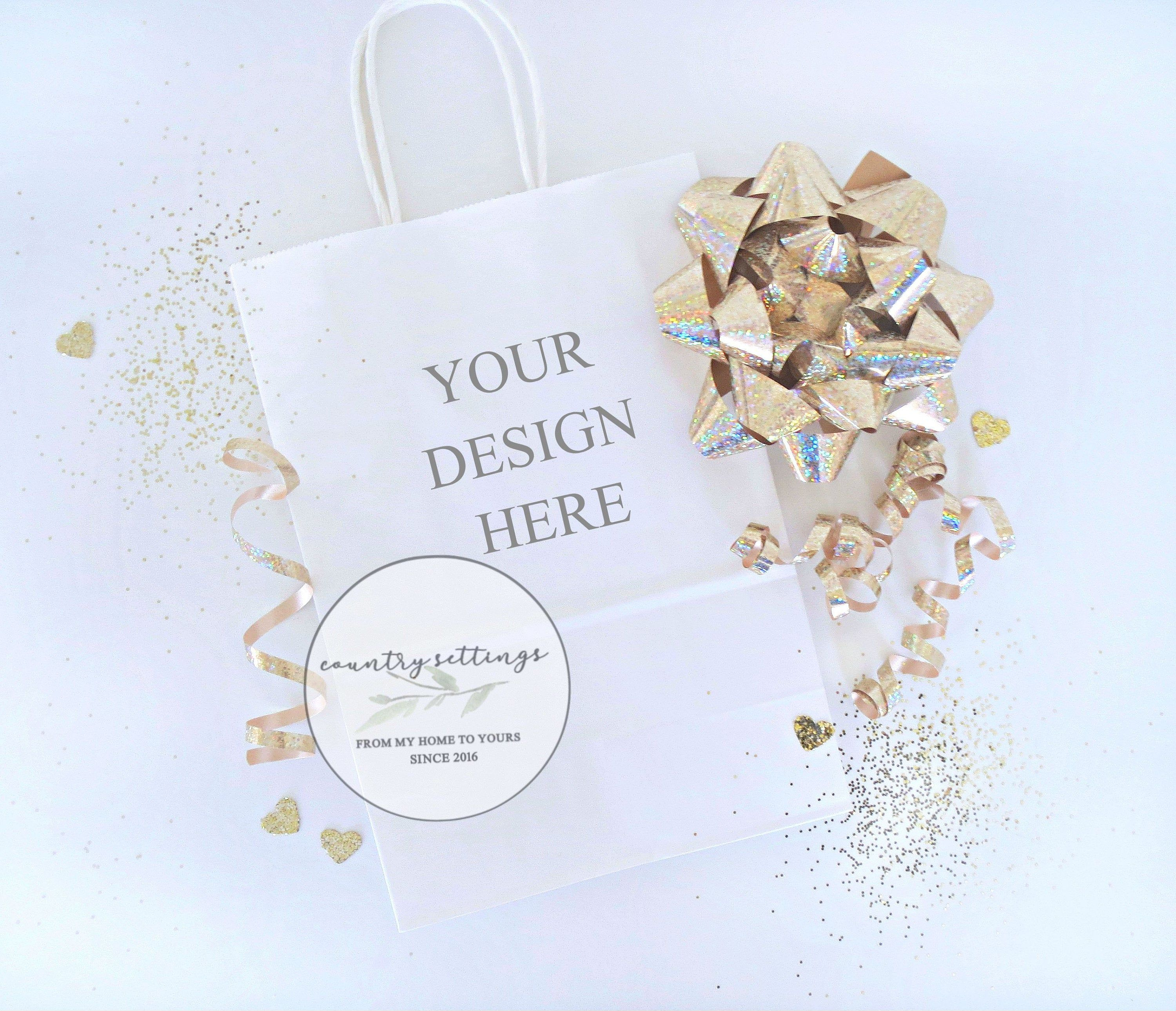 Download Blank Party Bag Mockup White Paper Gift Bag Mockup Styled Photography Mockups Paper Gifts Paper Gift Bags Bag Mockup