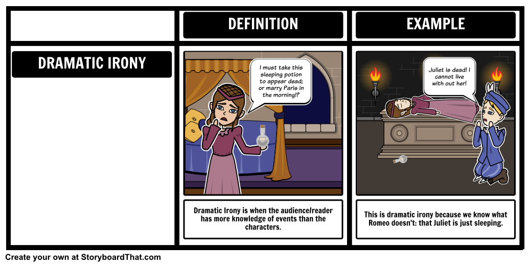 take a look at our dramatic irony storyboard for romeo and