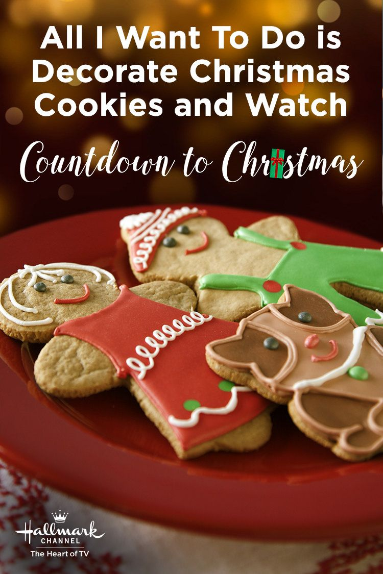 All I want to do is decorate Christmas cookies and watch Countdown ...
