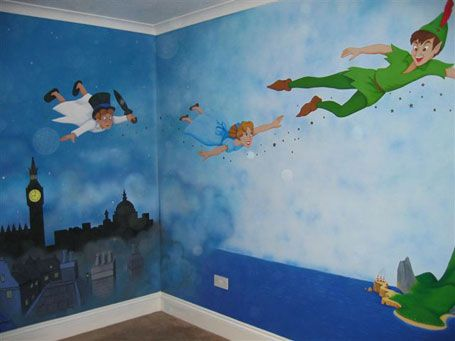 Peter Pan Room With Gorgeous Murals! Part 6