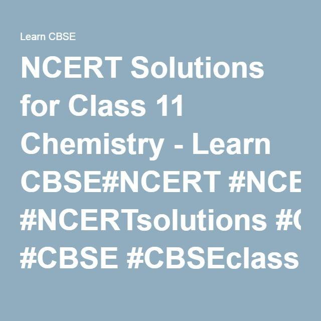 NCERT Solutions for Class 11 Chemistry - Learn CBSE#NCERT - griffe für küchenmöbel