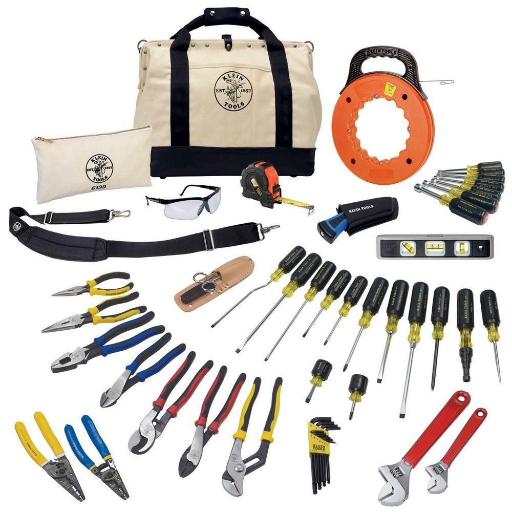 Klein Tools Journeyman Tool Set 41 Piece 80141 The Home Depot In 2020 Klein Tools Electrician Tools Hand Tools