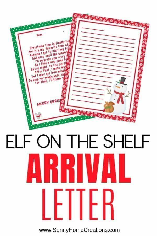 Elf on the Shelf Arrival Letter Printable Template - (FREE!) #elfontheshelfarrival Elf on the Shelf Arrival Letter for Kids. Awesome welcome printable letter template addressed to kids to welcome back the elf. Free! #elfontheshelfarrivalletter