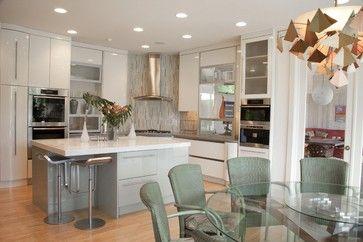 corner stovetop --Watermill Residence Interiors - contemporary - kitchen - new york - Greifenstein Boyce Associates