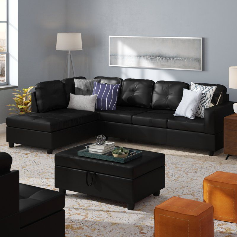 We may earn commission on some of the items you choose to buy. Faunce Sectional with Ottoman   Leather couch living room ...