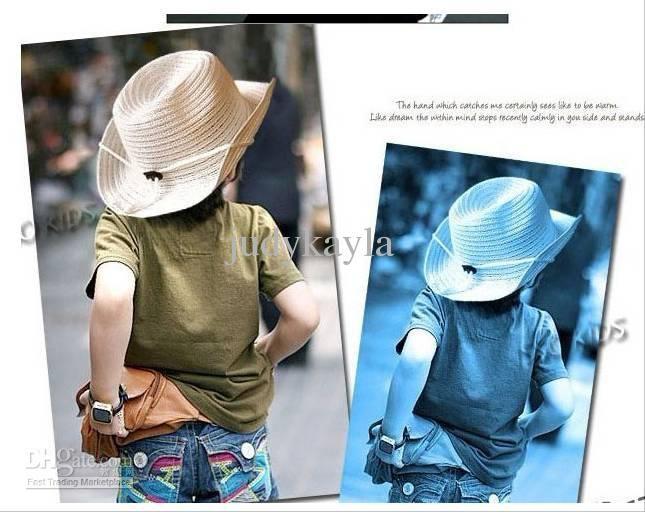 Babysommer Strohhüte Kinder Fünf-Sterne-Sonnekappen Baby Cowboyhut ...