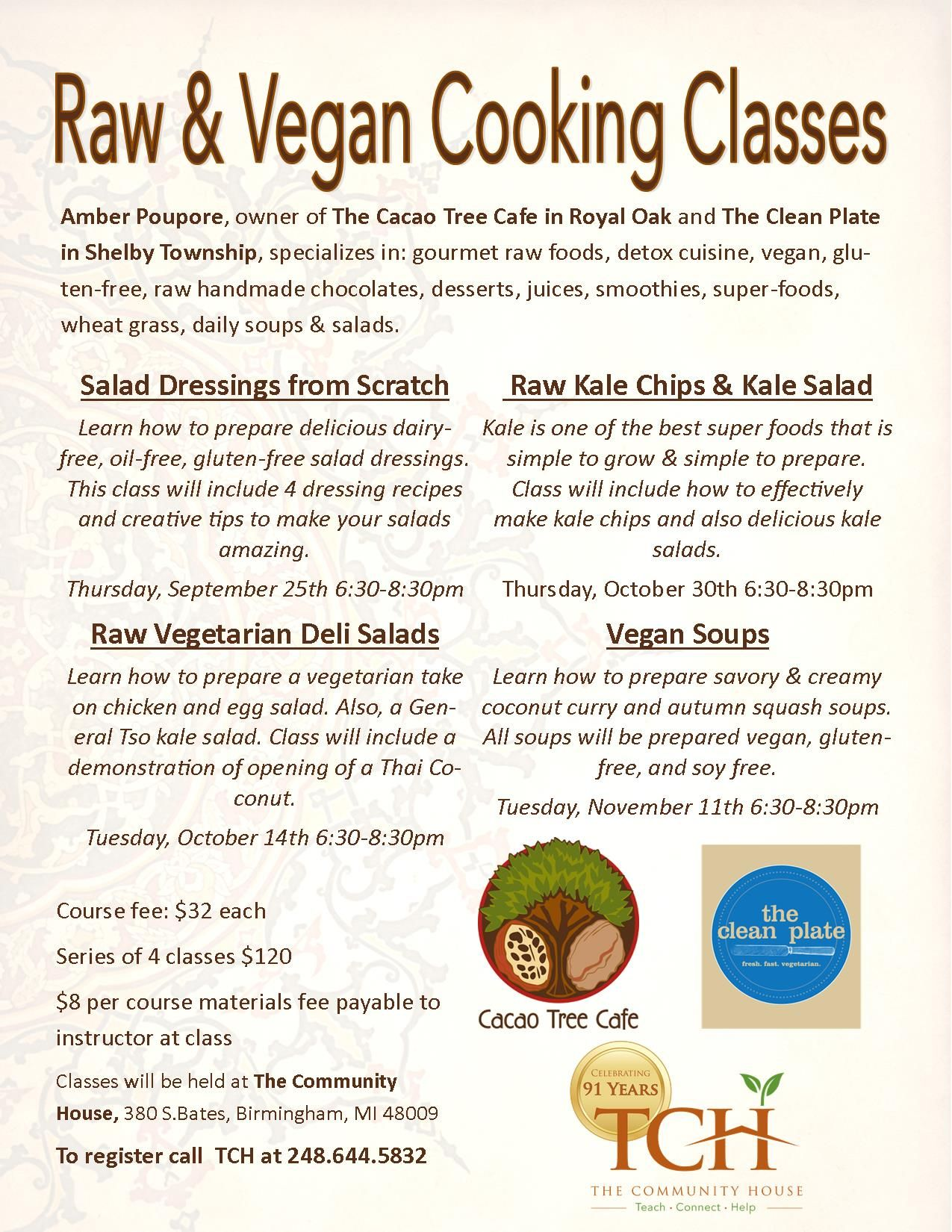 Check Out Our Fall 2014 Raw And Vegan Cooking Classes With