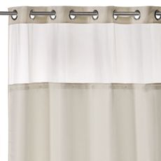 Hookless® Waffle 54 Inch X 80 Inch Stall Fabric Shower Curtain In Cream