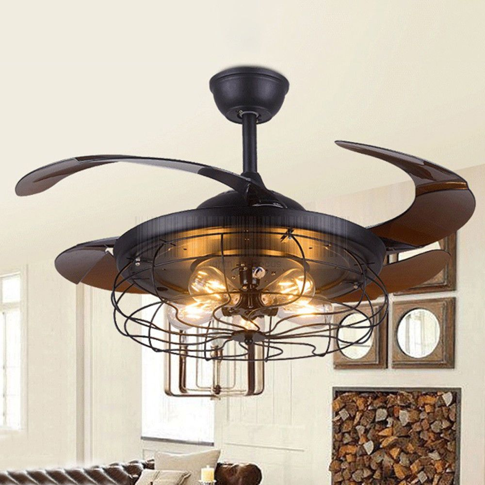 Black Wrought Iron Ceiling Fan With Light Ceiling Fan Chandelier