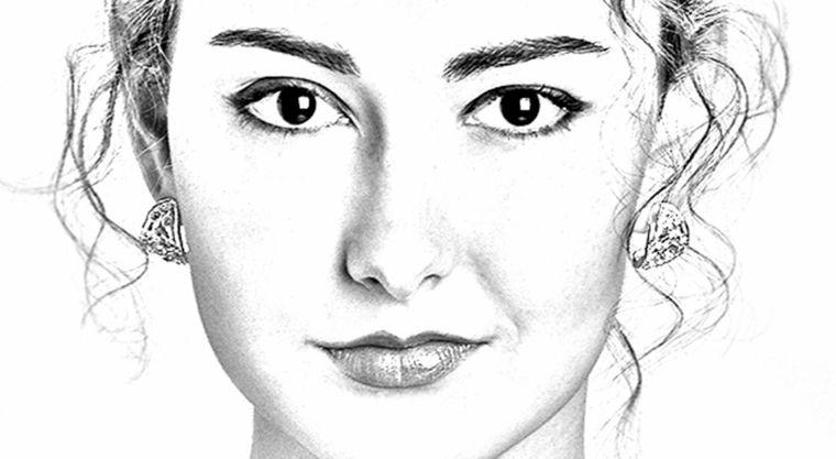 Disegni facili da copiare primo piano volto giovane donna for Disegni da copiare a matita