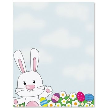Bunny Egg Hunt Letter Paper  Idea Art  Easter Sunday Paper