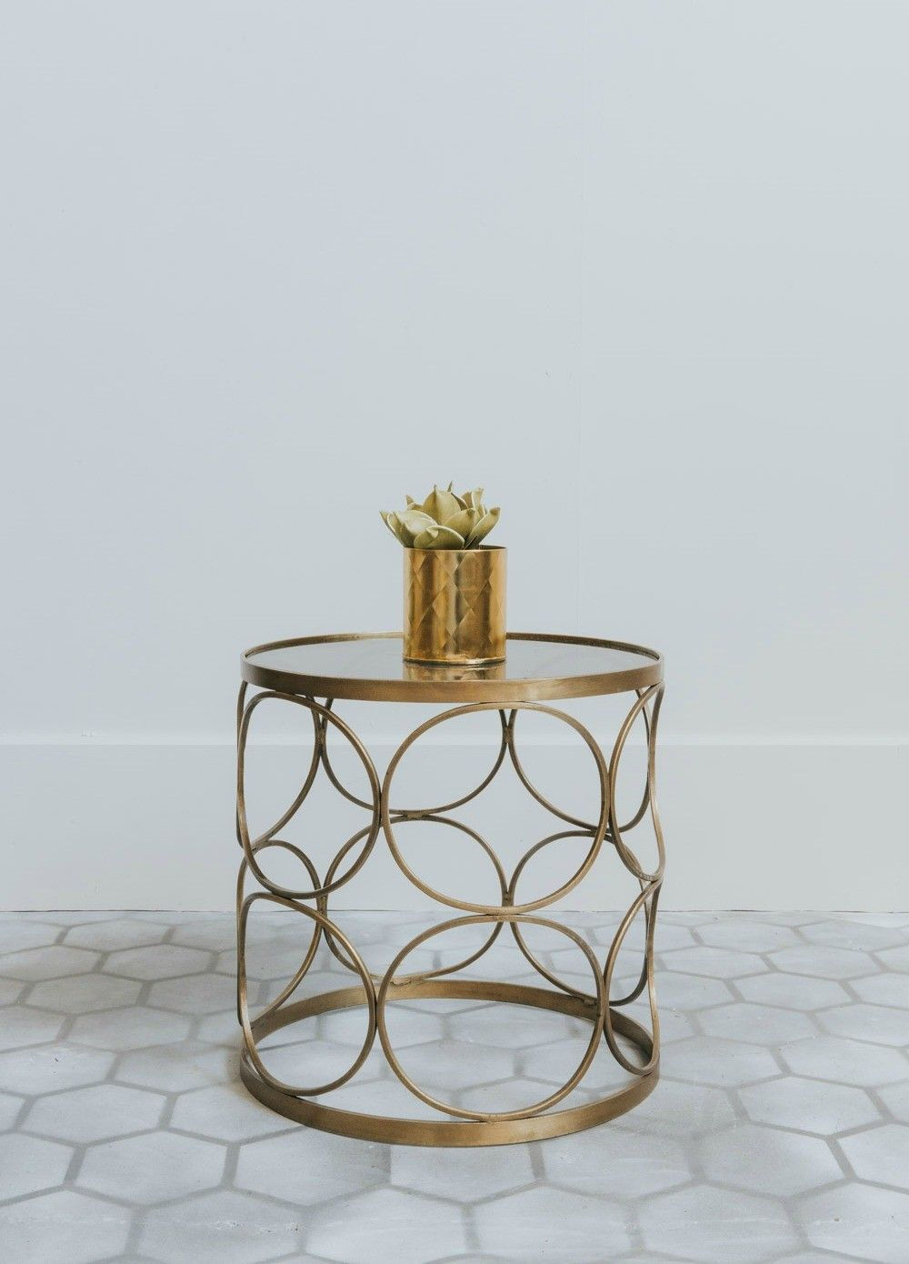 Wwwroseandgreycouk Cirqueblackglassbrasssidetable Marble - Black and brass side table