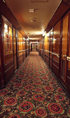 Passenger Hallway, RMS Queen Mary by Non Paratus, via Flickr