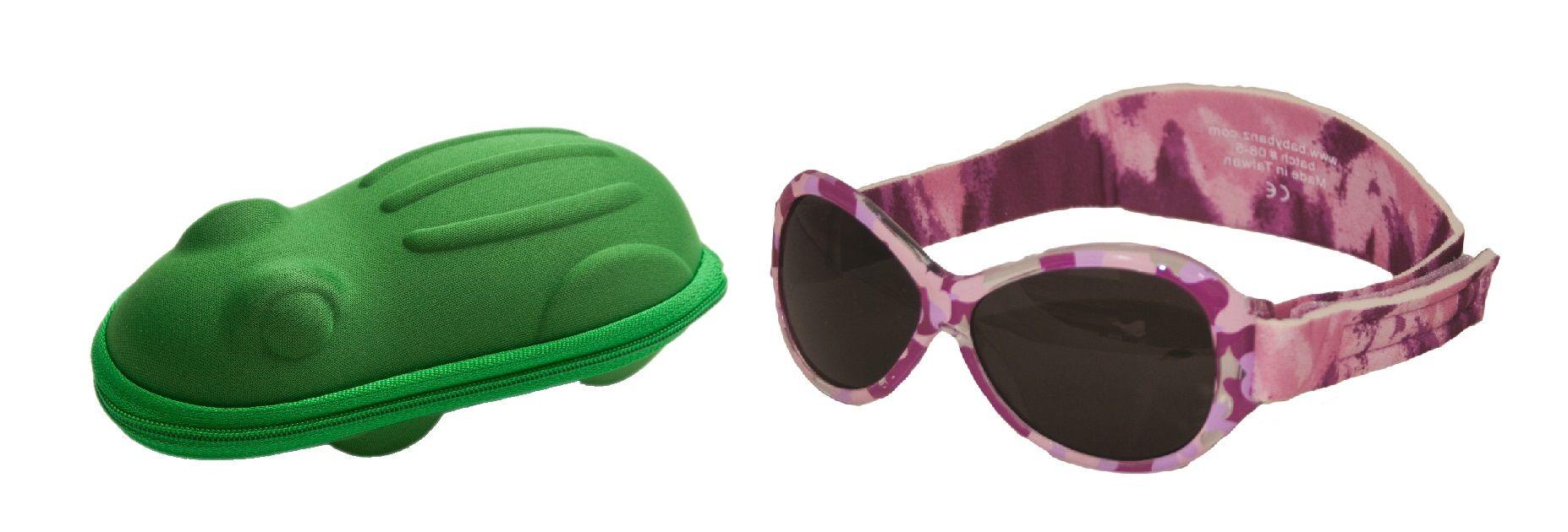Une combinaison Lot de Babybanz Retro Lunettes de soleil Rose Camo et un  étui lunettes de dc887bf205da
