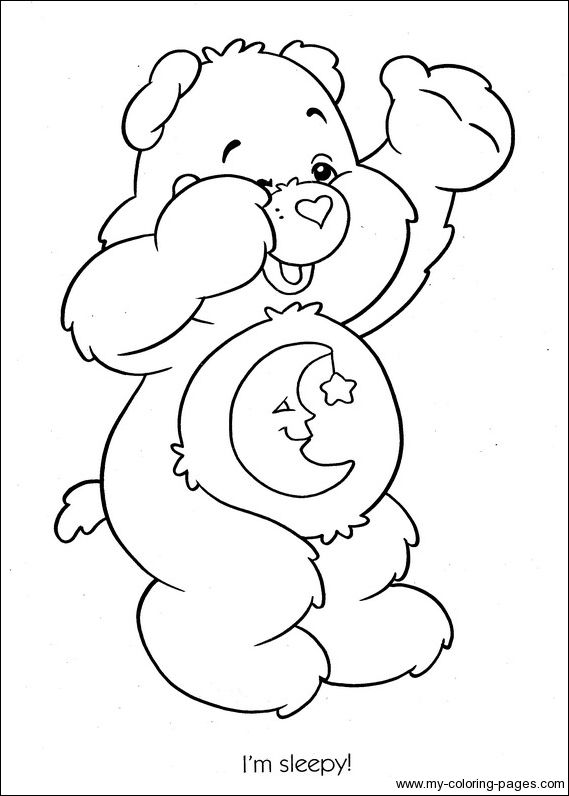 Care Bears Coloring 056 Bear Coloring Pages Coloring Pages
