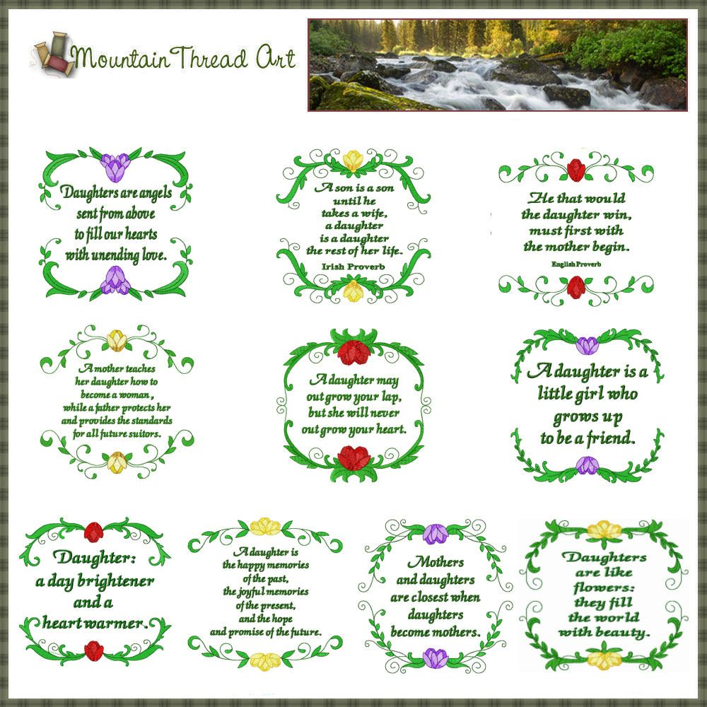 Quotes+About+Daughters | DAUGHTER QUOTE 'N QUILT BLOCKS SET If you ... : memorial quilt quotes - Adamdwight.com