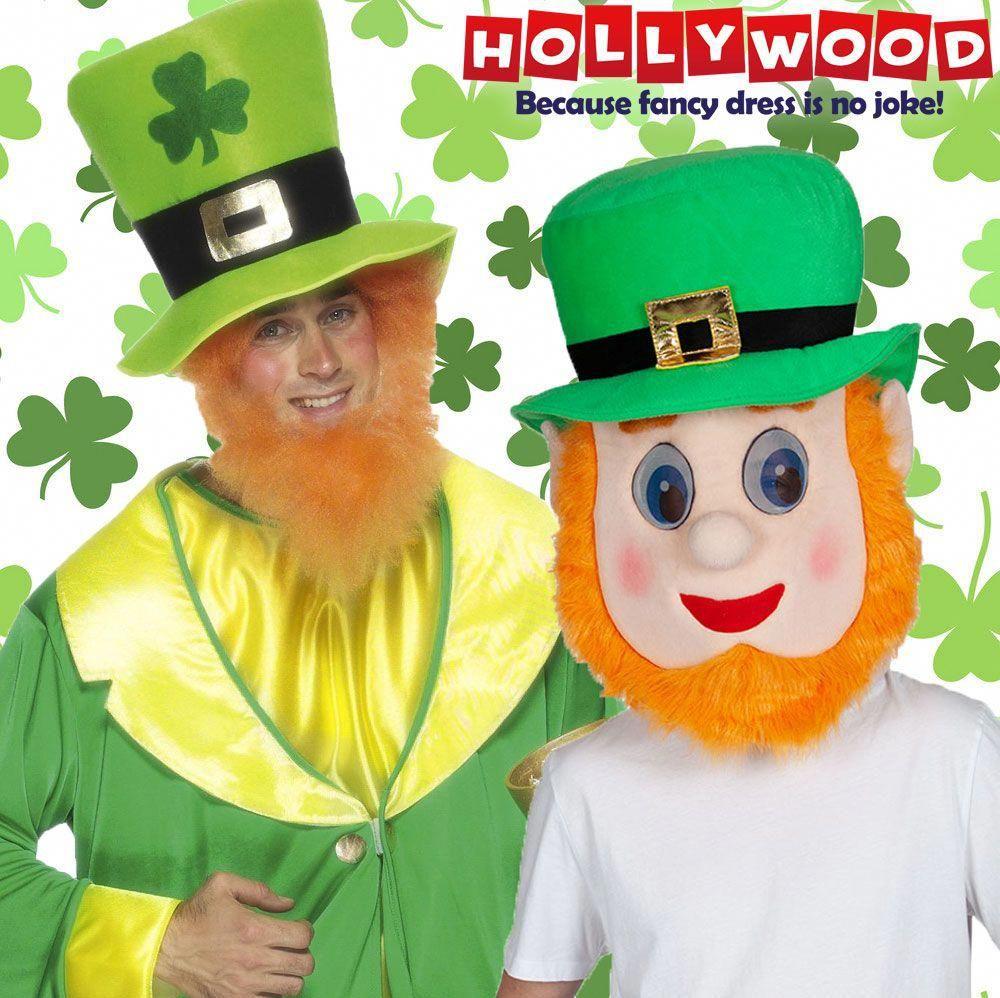 Adult Leprechaun Beard St Patricks Day Irish Fancy Dress Ginger Beard Accessory