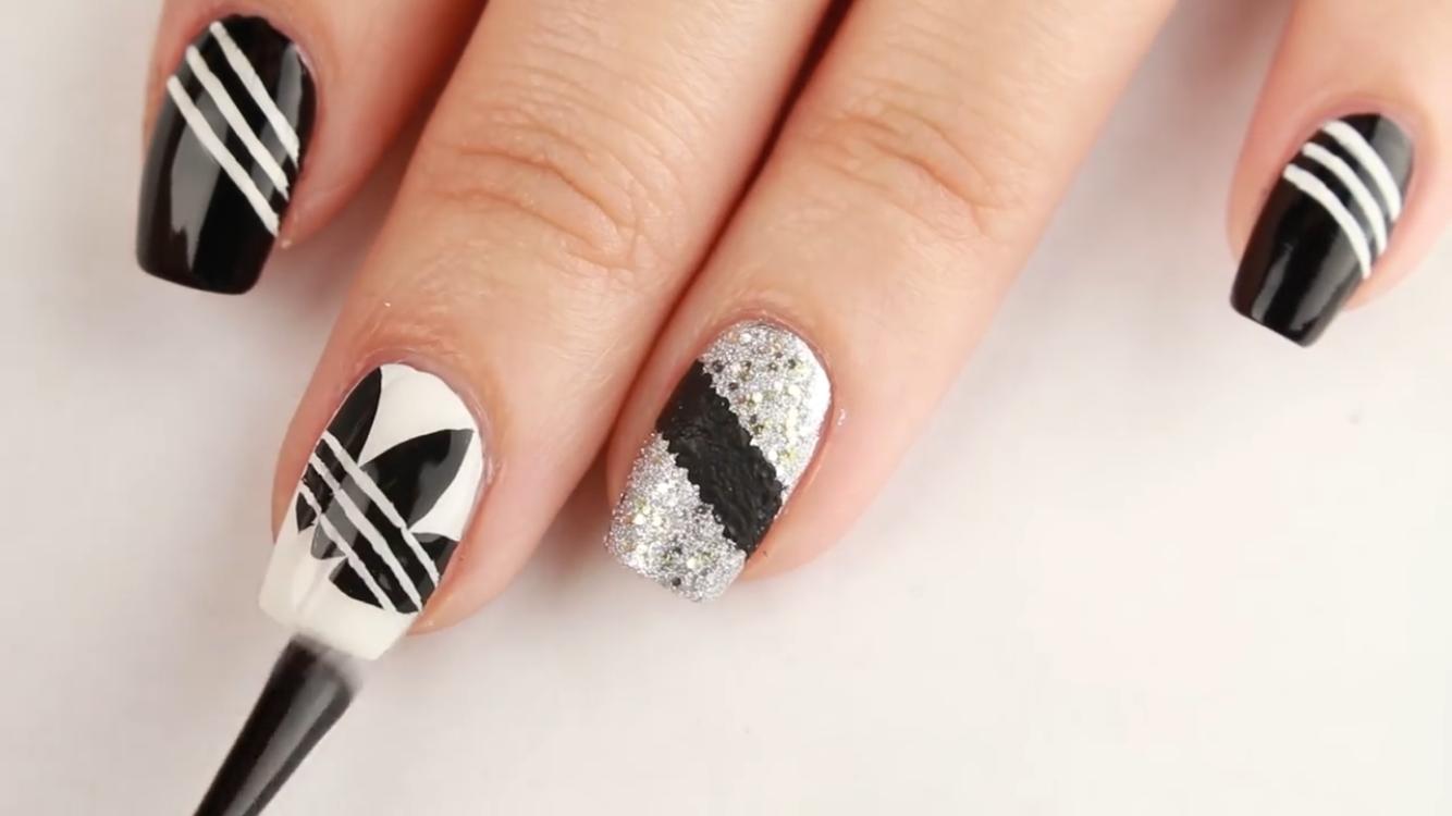 Adidas nails | Nail Art | Pinterest
