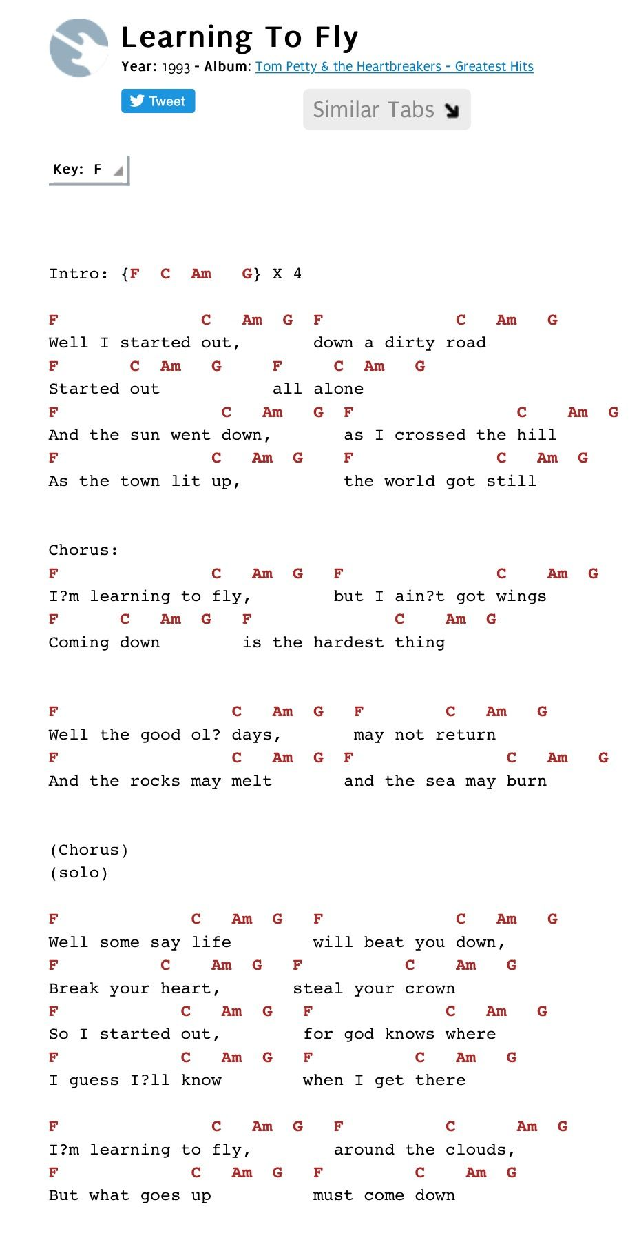 Free Fallin E Chords Ukulele Pinterest Sheet Music And