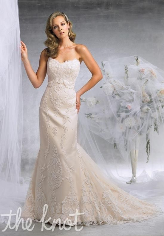 Gown features embroidery and lace.   Wedding fever   Pinterest ...