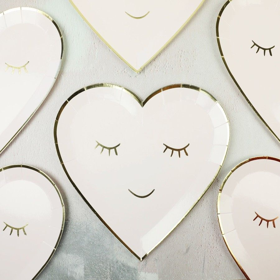 sc 1 st  Pinterest & Meri Meri Set of 8 Blushing Heart Paper Plates