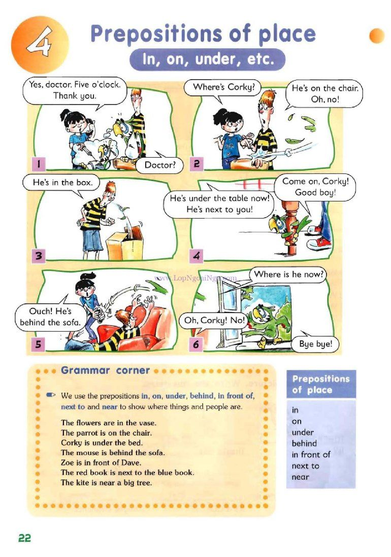Uncategorized Prepositions Of Place Worksheet prepositions of place in on under etc pictures grammar pictures