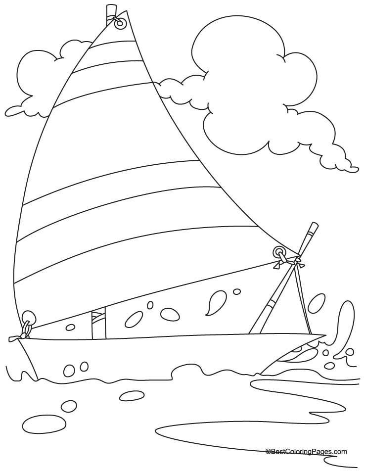 Yacht Coloring Page