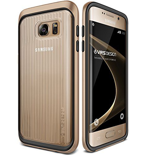 Awesome Galaxy S7 Edge Case, VRS Design [Triple Mixx][Shine Gold] - [Clear Back][Drop Protection][Heavy Duty][Slim Fit] - For Samsung Galaxy S7 Edge SM-G935 Devices