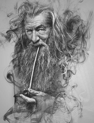 Gandalf Through The Smoke Fantasy Amazing Art Gandalf Gandalf