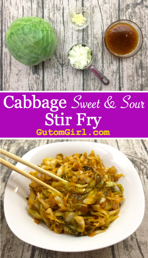 Cabbage Sweet and Sour Stir Fry Recipe Cabbage recipes