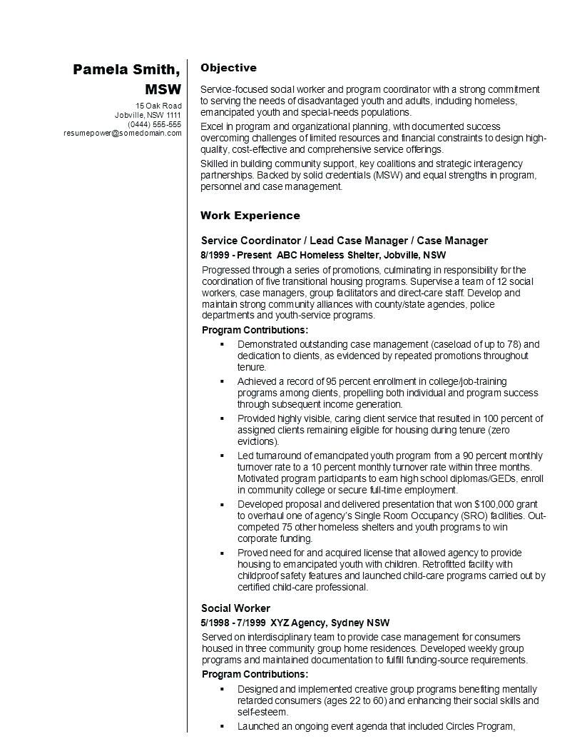 Social Workers Resume Samples Awesome Resume social Work