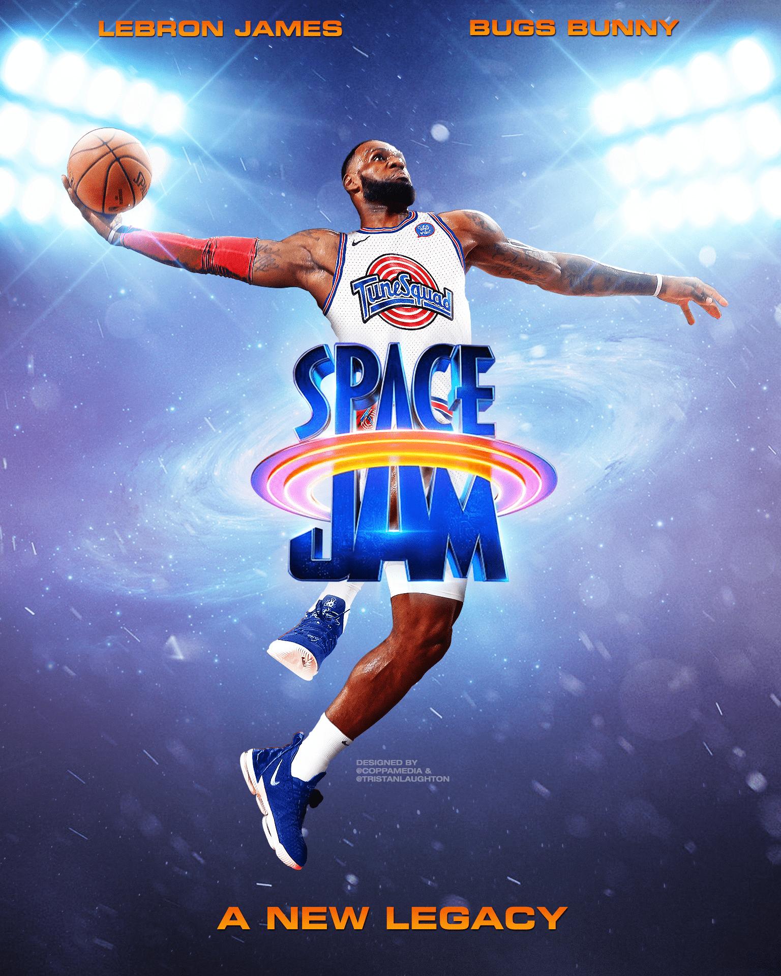 Space Jam Poster Design Space Jam Lebron James Lebron James Poster