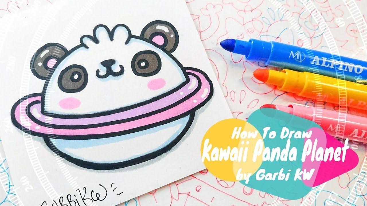Como Dibujar Un Planeta Panda Kawaii Dibujos Faciles Paso A Paso