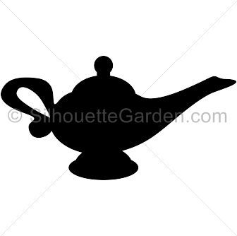 Genie Lamp Silhouette Clip Art Download Free Versions Of The Image In Eps Jpg Pdf Png And Svg Formats Disney Silhouette Art Genie Lamp Silhouette Clip Art