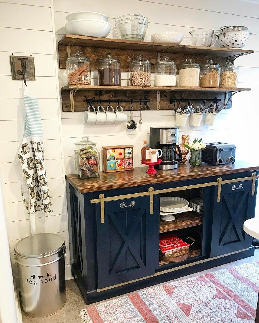 Awesome Navy Kitchen Cabinets Design 48 Open Kitchen Shelves Coffee Bar Home Bar Furniture