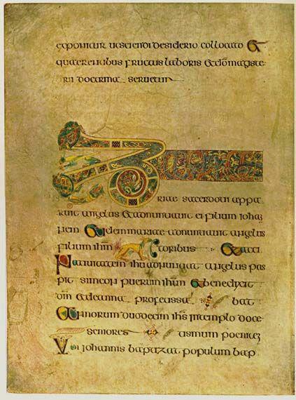 El folio 19 contiene el inicio de las Breves causae del Evangelio según Lucas.