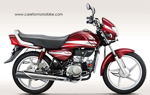Hero Hf Deluxe Motorcycle Classic Maroon Metallic Colour Hero