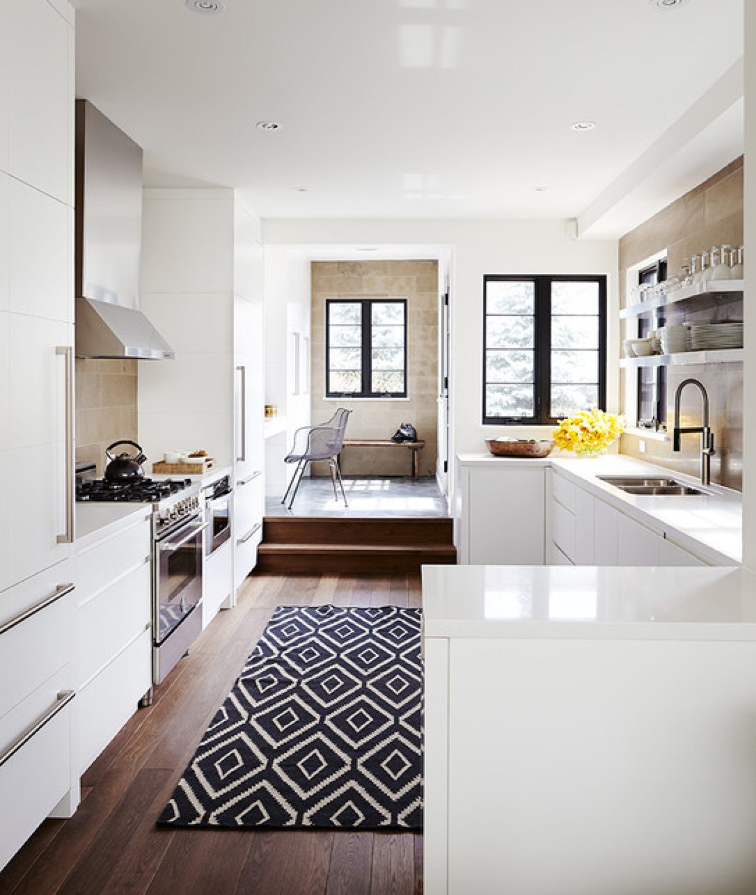 Kitchen step-up level to dining or whatever | Decorate {Kitchens ...