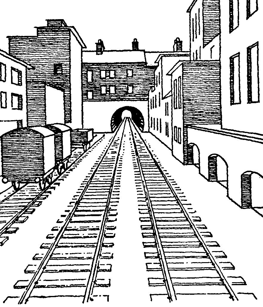 Drawing Of Railroad Tracks For Art