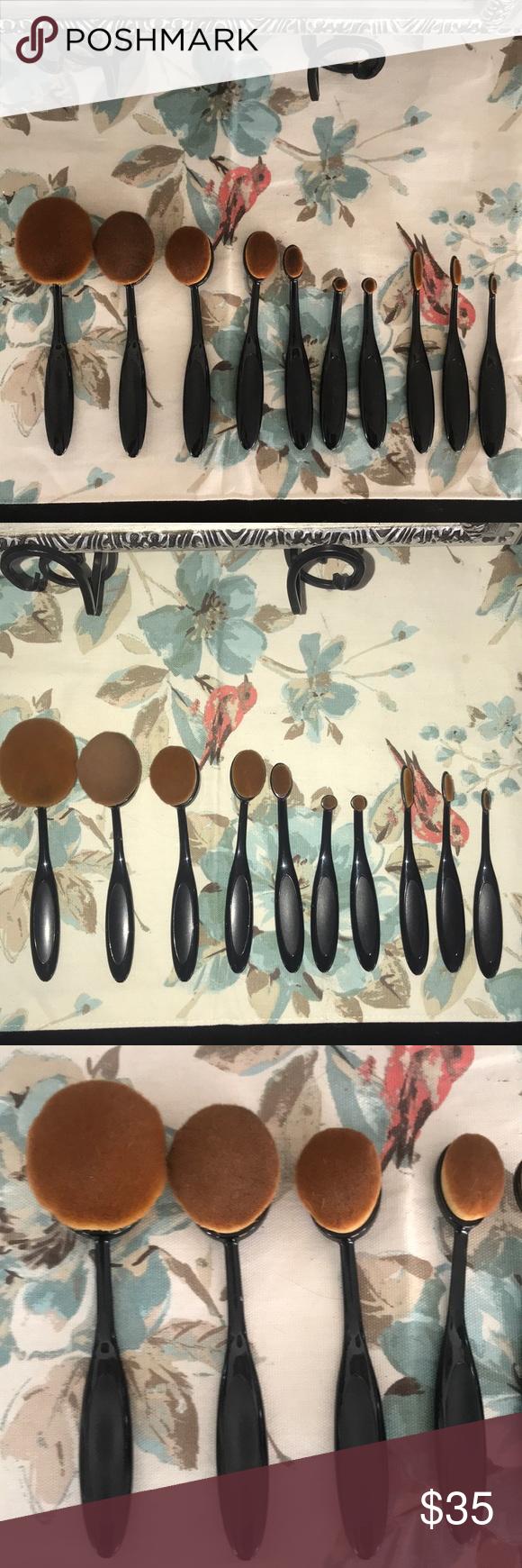Roxy bag w/set of makeup brushes Makeup brushes, Makeup