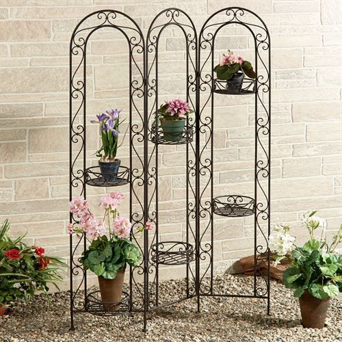 Caprice Arched Tri Panel Folding Plant Stand With Images