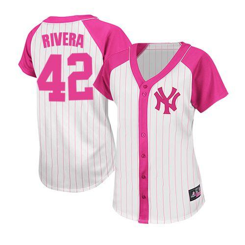 quite nice f8908 f04ce Women's Majestic New York Yankees #42 Mariano Rivera ...