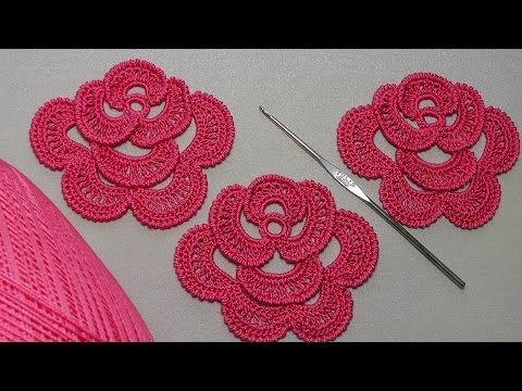Как связать РОЗУ крючком. ЧАСТЬ 1. Урок вязания для начинающих. - Crochet Hats #irishlacecrochet