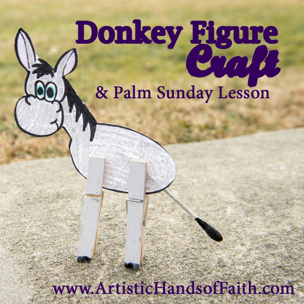 Palm Sunday Donkey Craft and Bible Lesson with Free Printables ...