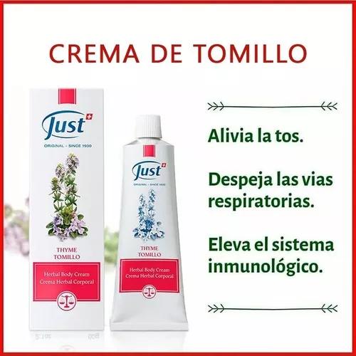 Crema De Tomillo Just 60grs Producto Original Envío Gratis 499 00 Just Productos Tratamiento Para Manos Recetas De Aceites Esenciales