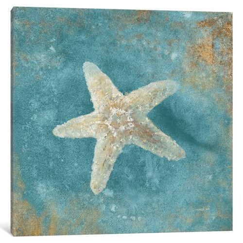 Found it at Wayfair - Treasures From the Sea IV (Aquamarine) Painting Print on Wrapped Canvas